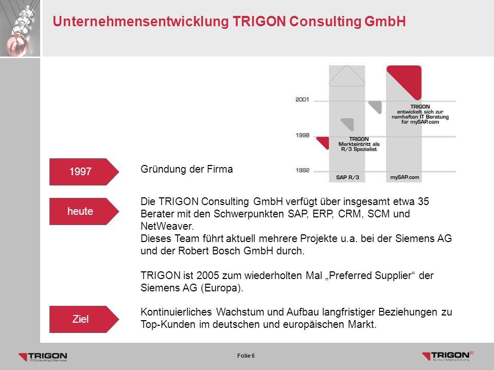 Unternehmensentwicklung TRIGON Consulting GmbH