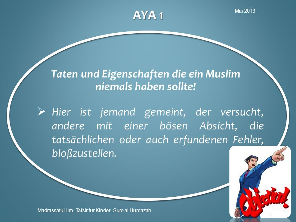 Taten und Eigenschaften die ein Muslim niemals haben sollte!