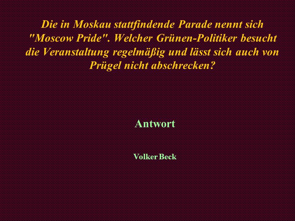 Die in Moskau stattfindende Parade nennt sich Moscow Pride