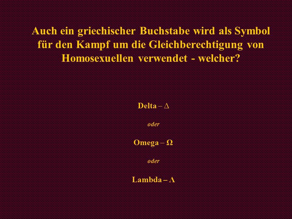 Delta – Δ oder Omega – Ω oder Lambda – Λ