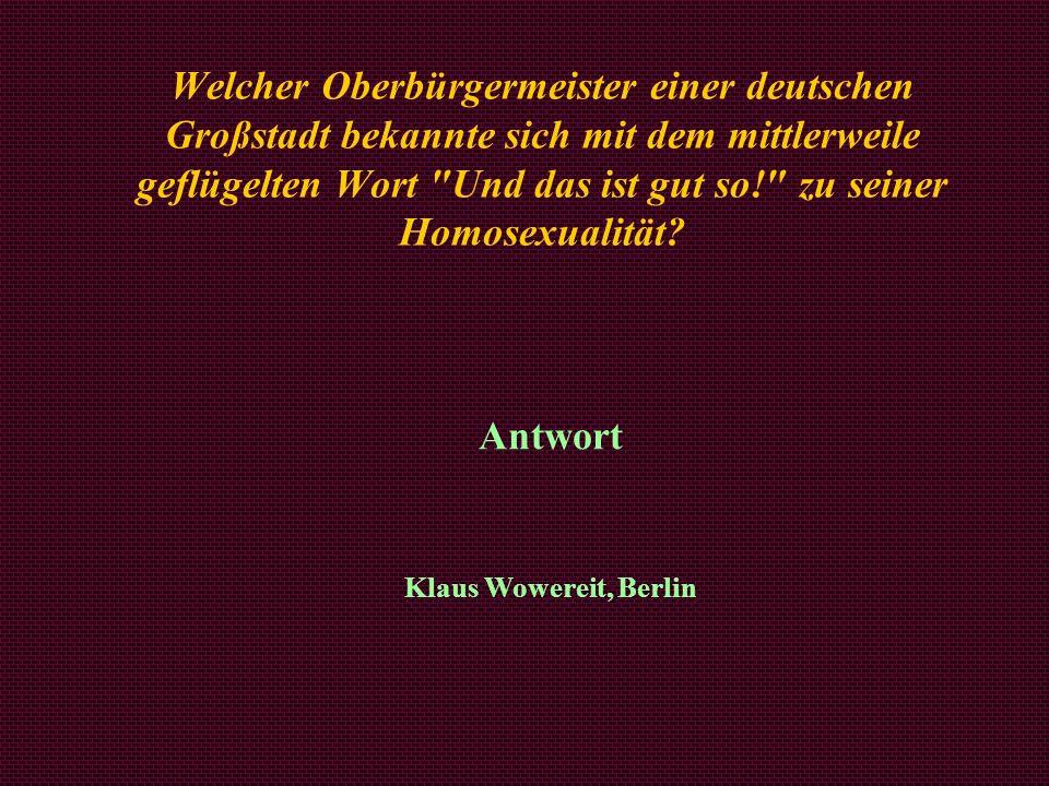 Antwort Klaus Wowereit, Berlin