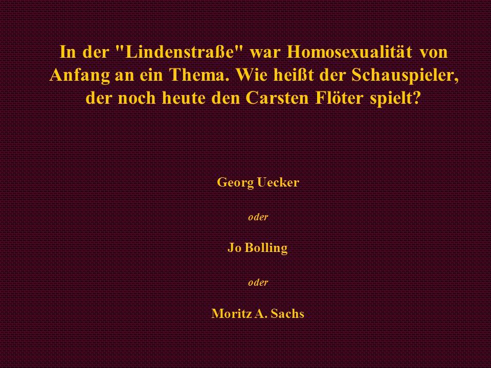 Georg Uecker oder Jo Bolling oder Moritz A. Sachs