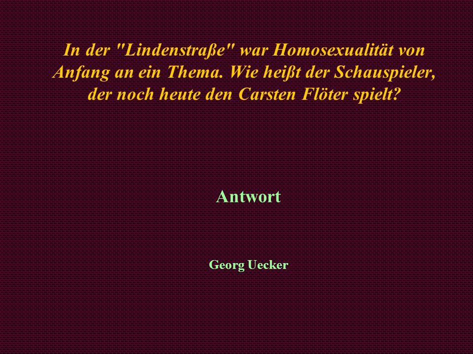 In der Lindenstraße war Homosexualität von Anfang an ein Thema