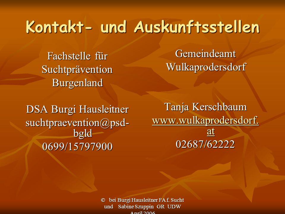 Kontakt- und Auskunftsstellen