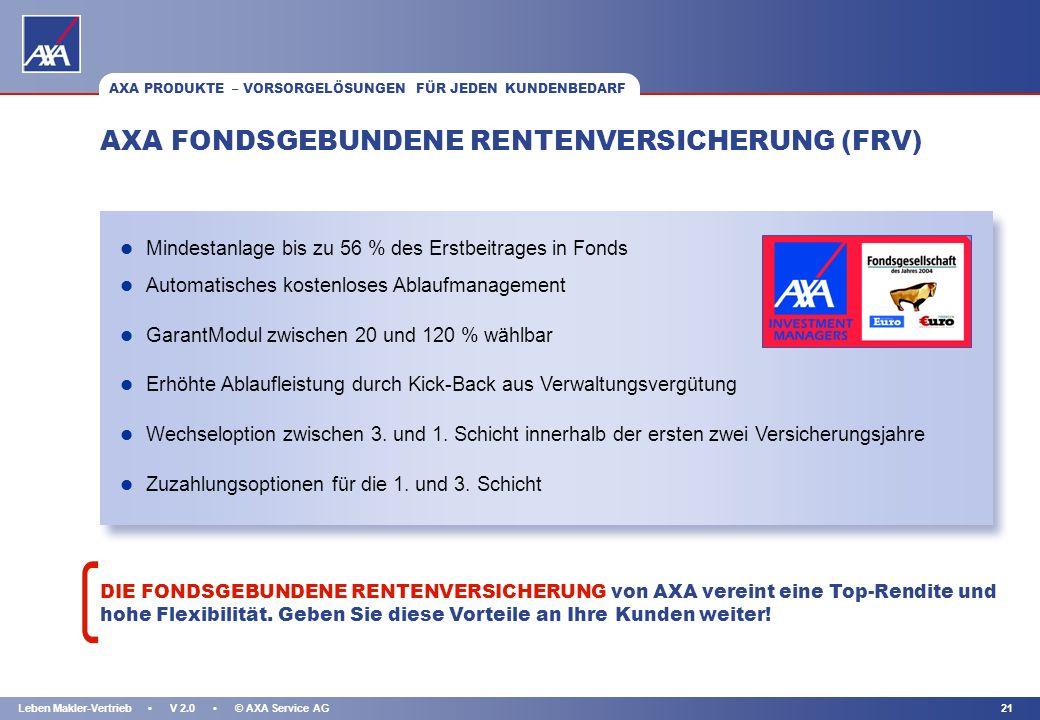 AXA FONDSGEBUNDENE RENTENVERSICHERUNG (FRV)