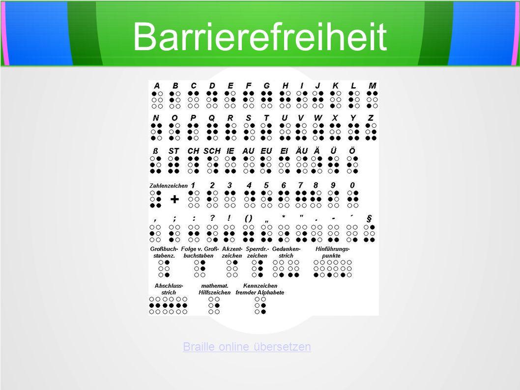 Braille online übersetzen