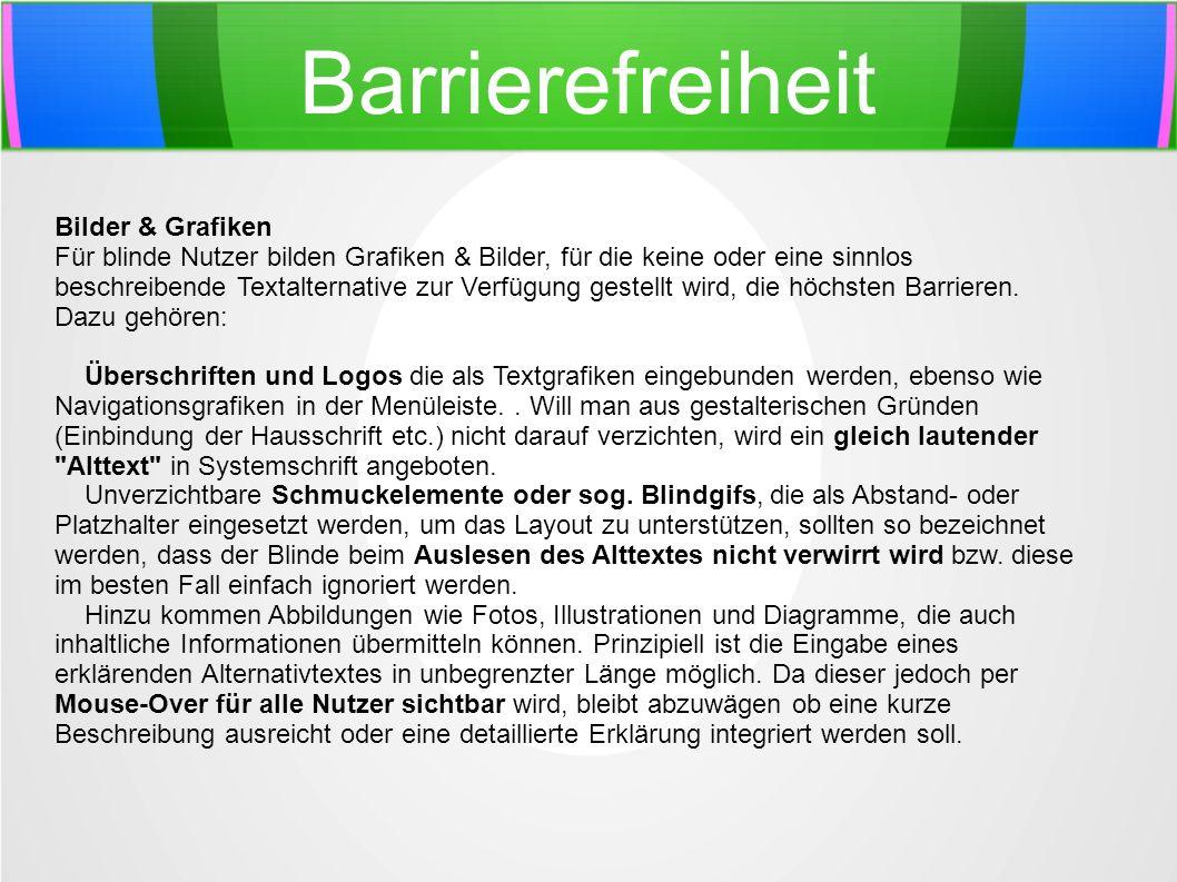 Barrierefreiheit Bilder & Grafiken