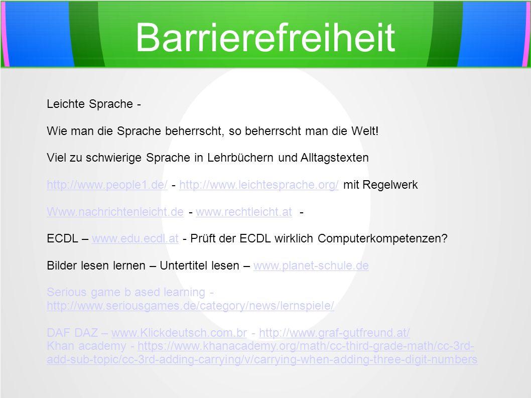 Barrierefreiheit Leichte Sprache -