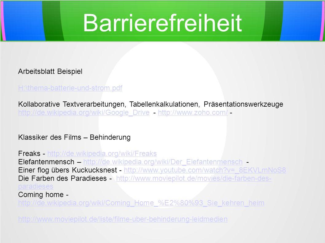 Barrierefreiheit Arbeitsblatt Beispiel H:\thema-batterie-und-strom.pdf