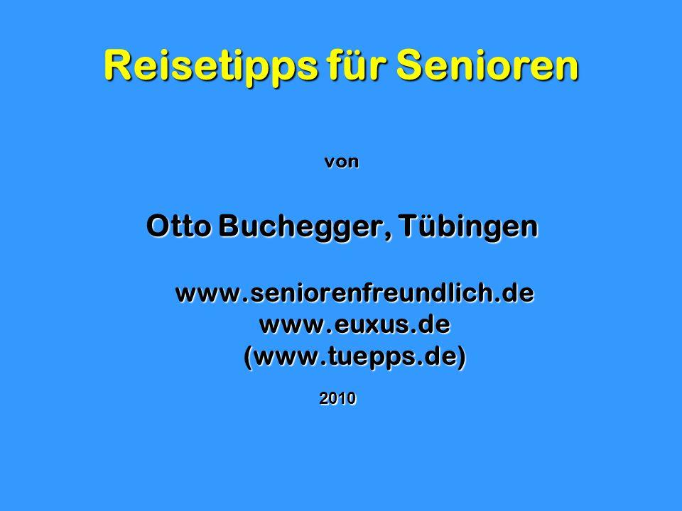 Reisetipps für Senioren