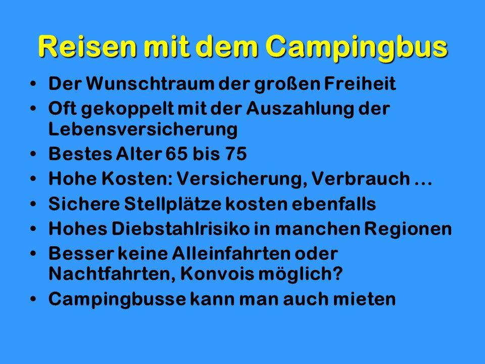Reisen mit dem Campingbus