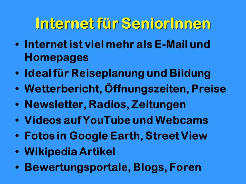 Internet für SeniorInnen