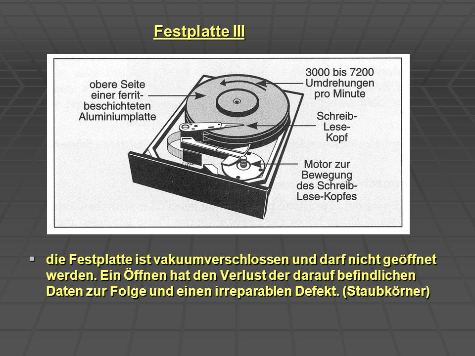 Festplatte III