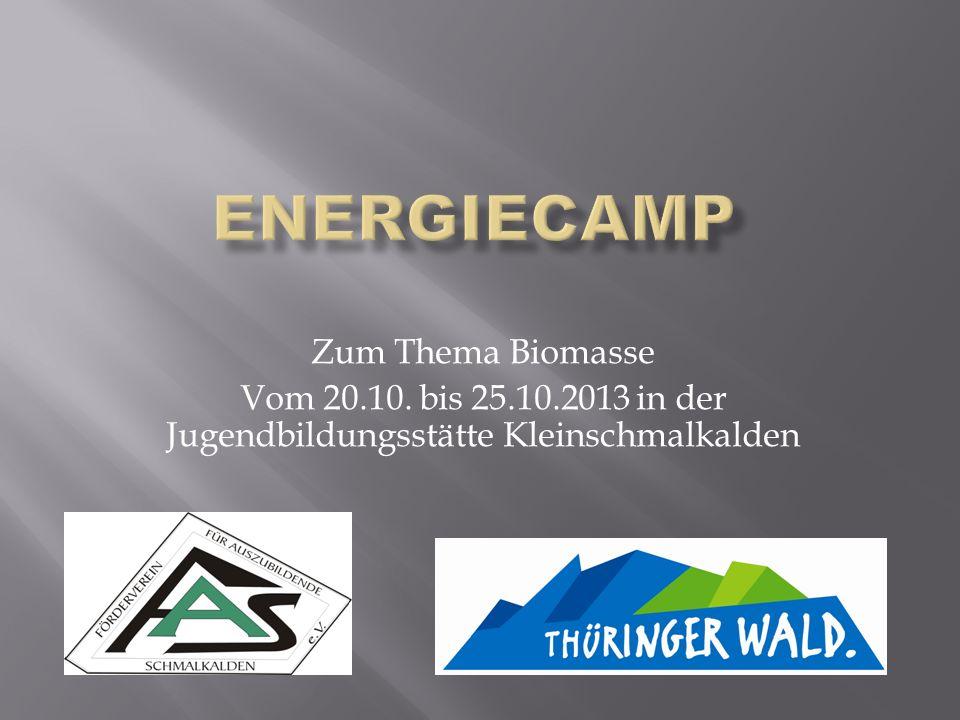 Energiecamp Zum Thema Biomasse