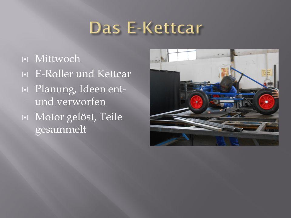 Das E-Kettcar Mittwoch E-Roller und Kettcar