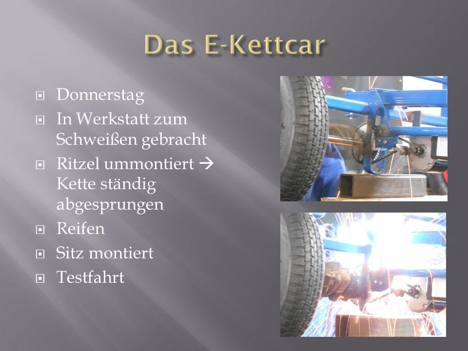 Das E-Kettcar Donnerstag In Werkstatt zum Schweißen gebracht