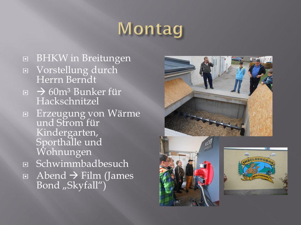 Montag BHKW in Breitungen Vorstellung durch Herrn Berndt