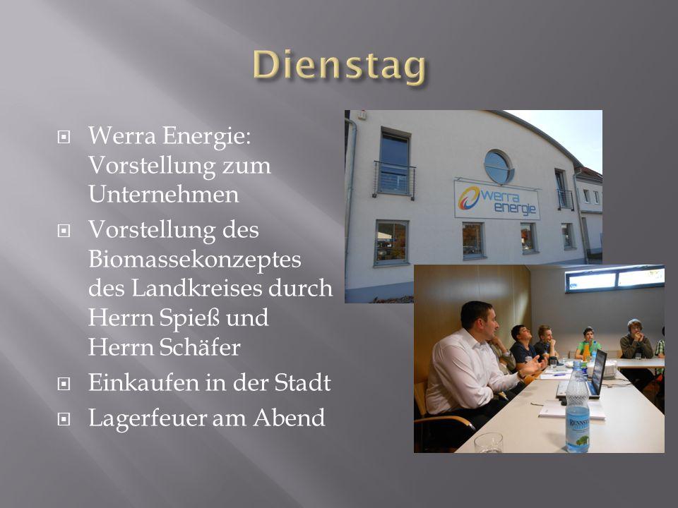 Dienstag Werra Energie: Vorstellung zum Unternehmen
