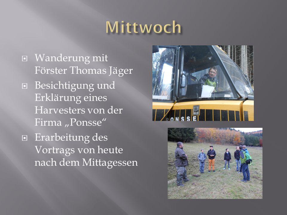 Mittwoch Wanderung mit Förster Thomas Jäger