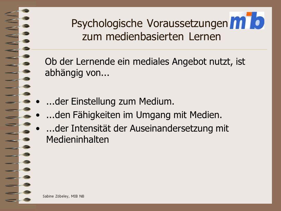 Psychologische Voraussetzungen zum medienbasierten Lernen