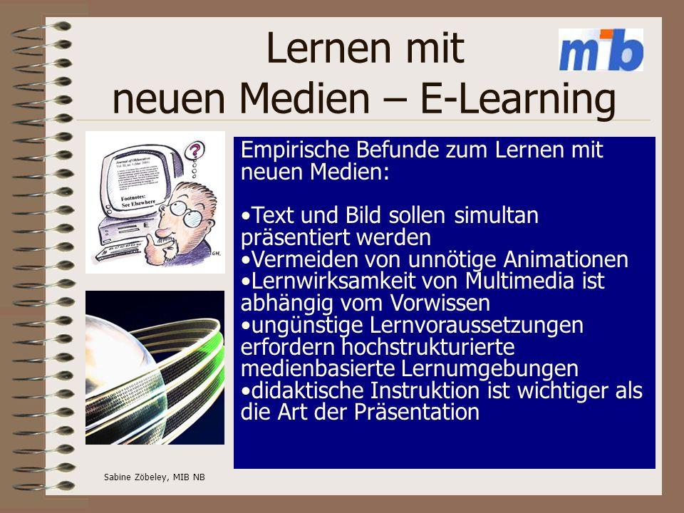 Lernen mit neuen Medien – E-Learning