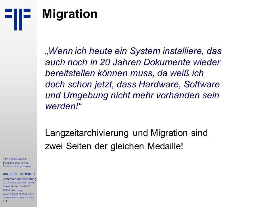 """Migration """"Wenn ich heute ein System installiere, das"""
