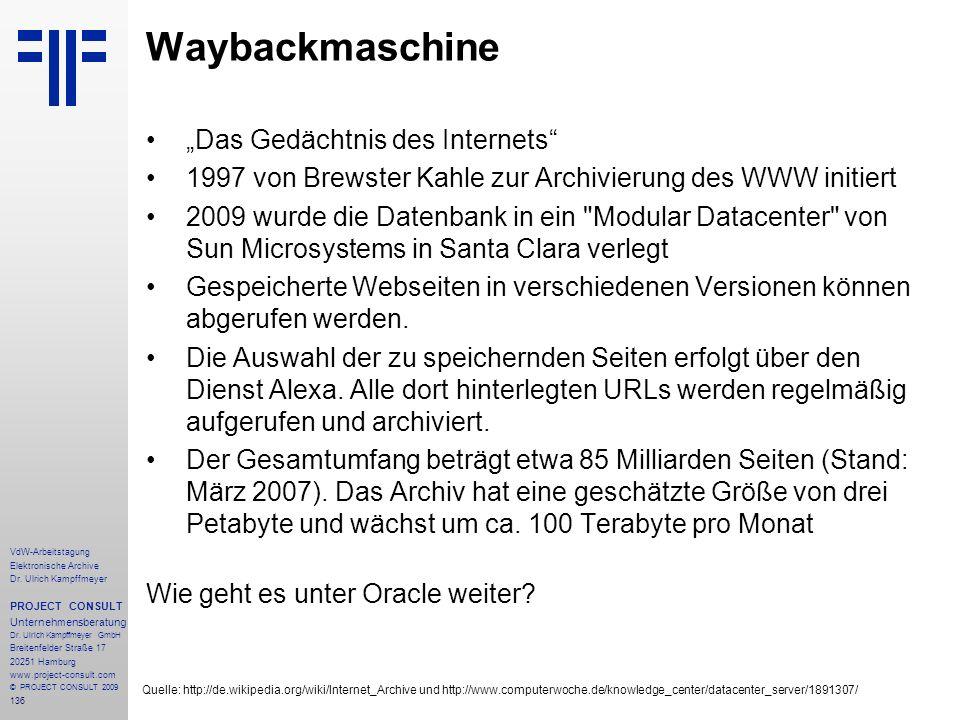 """Waybackmaschine """"Das Gedächtnis des Internets"""
