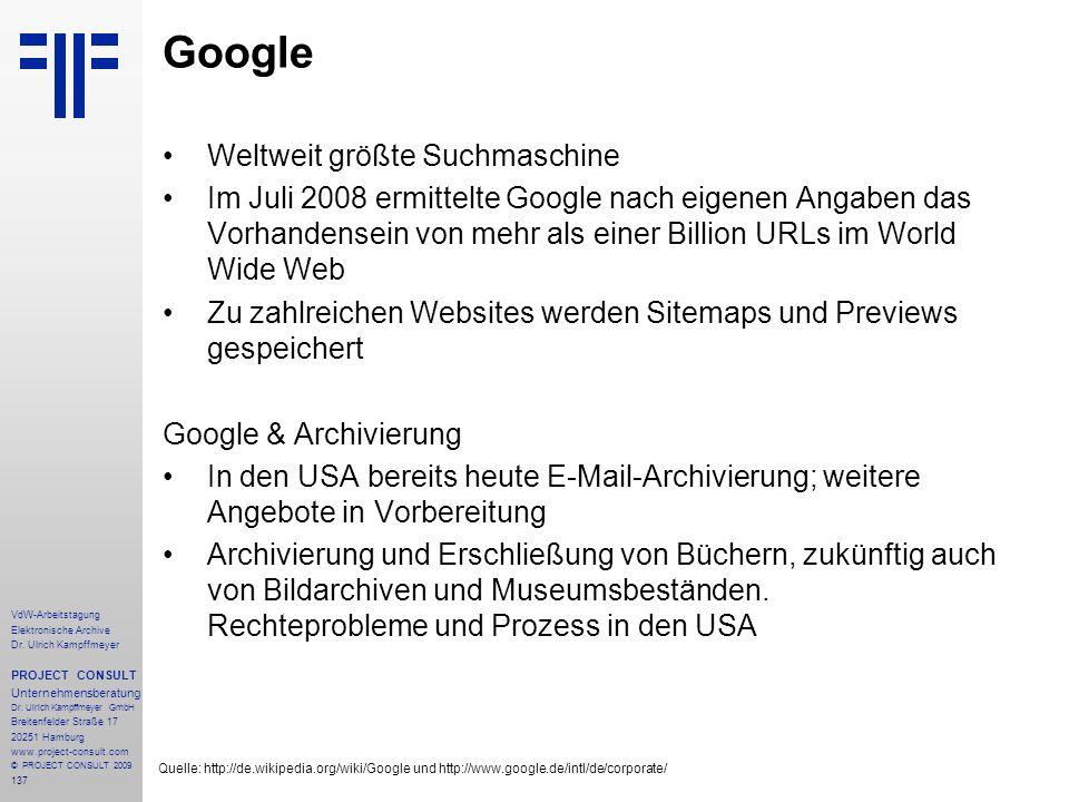 Google Weltweit größte Suchmaschine