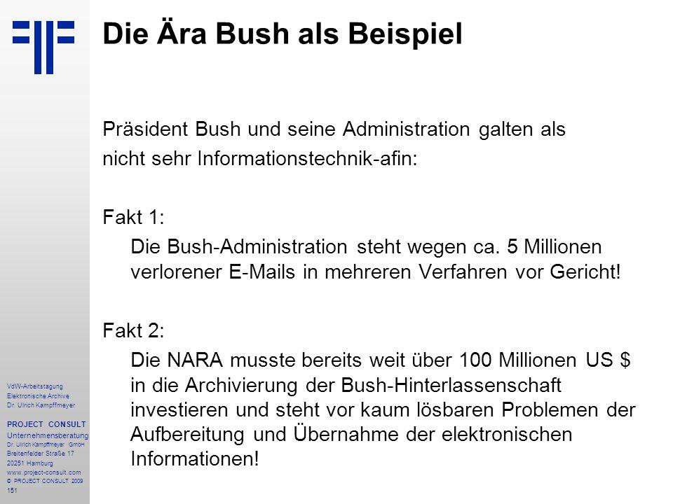 Die Ära Bush als Beispiel