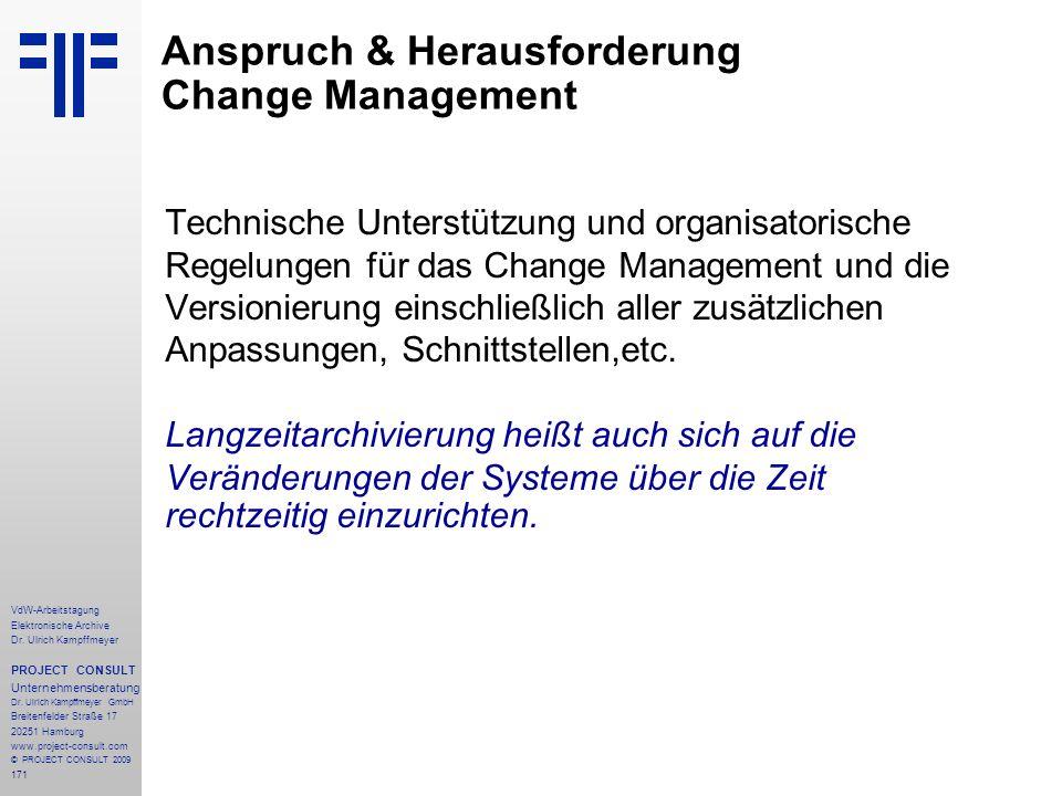 Anspruch & Herausforderung Change Management