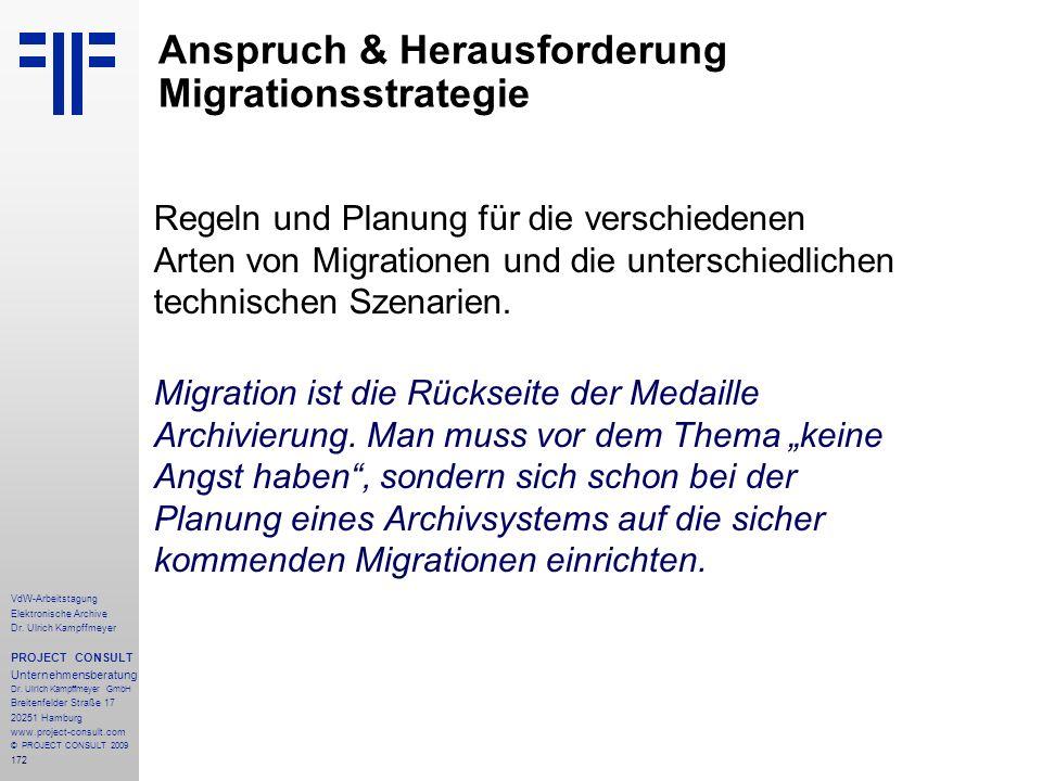 Anspruch & Herausforderung Migrationsstrategie