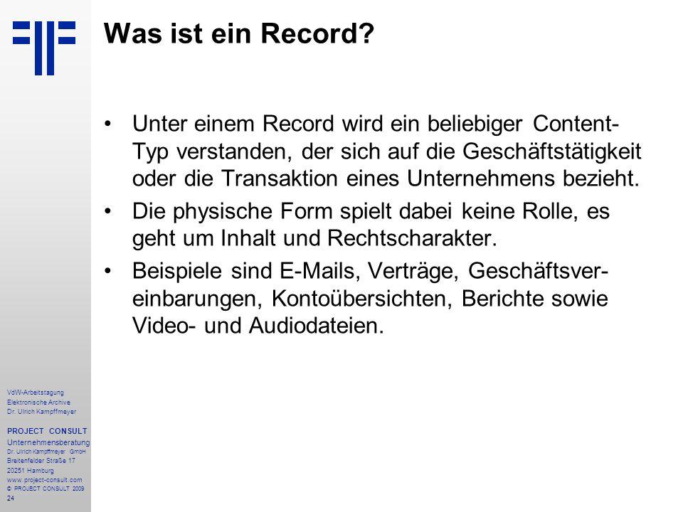 Was ist ein Record