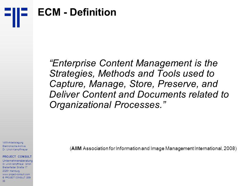 ECM - Definition