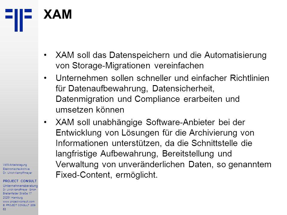 XAM XAM soll das Datenspeichern und die Automatisierung von Storage-Migrationen vereinfachen.
