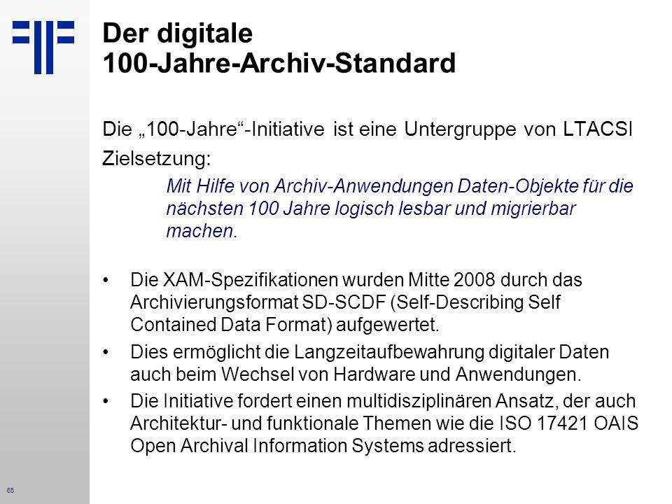 Der digitale 100-Jahre-Archiv-Standard