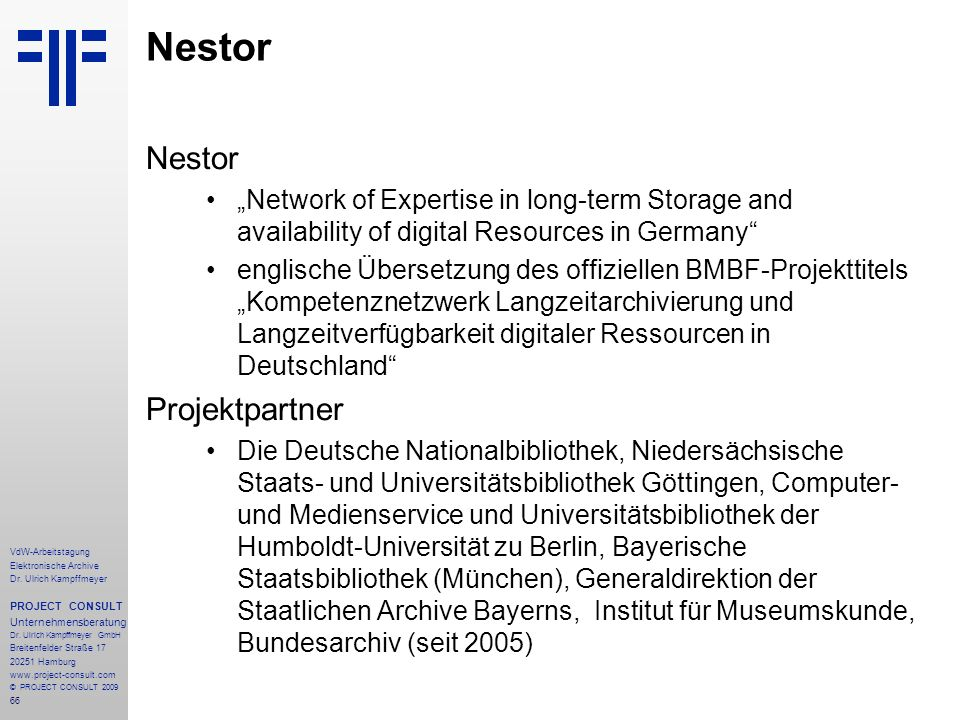 Nestor Nestor Projektpartner