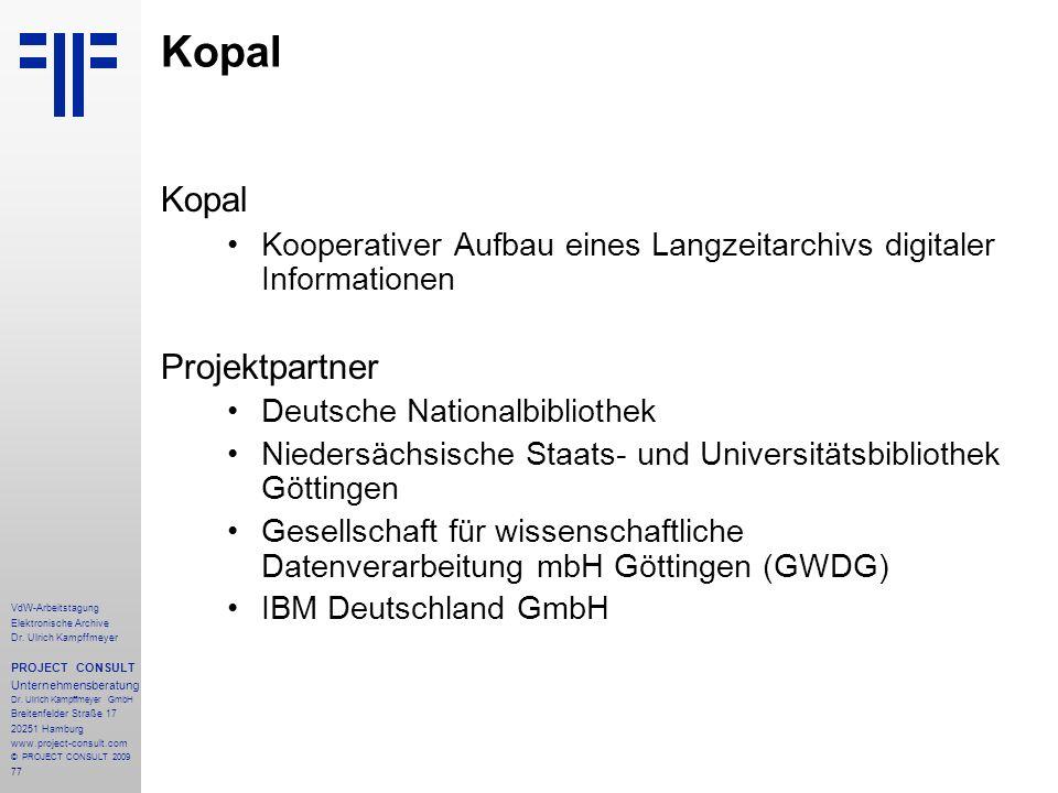 Kopal Kopal Projektpartner