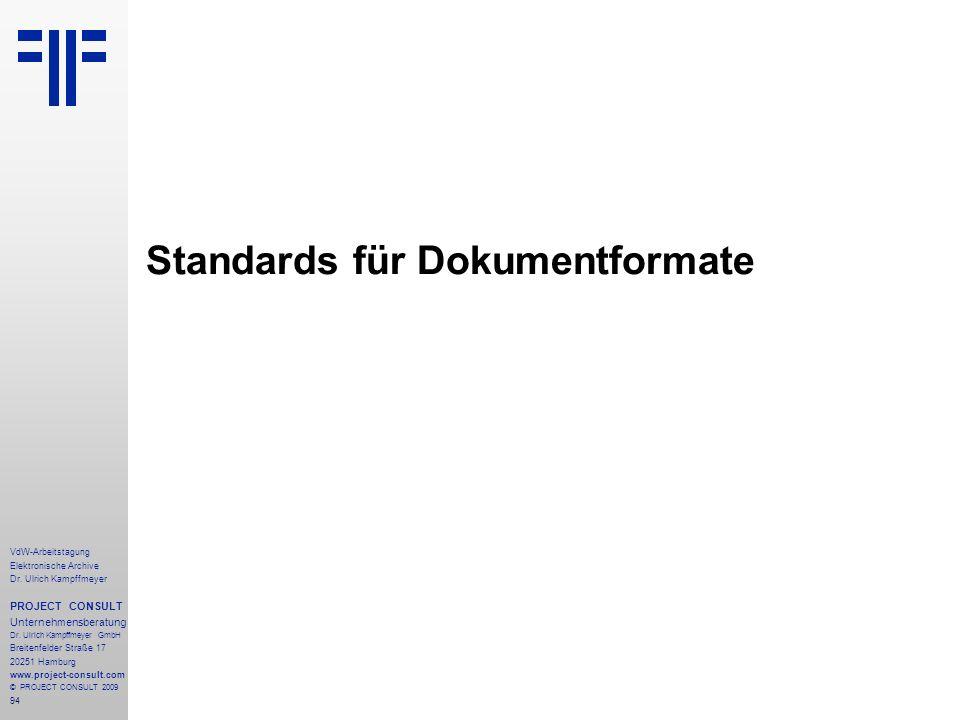 Standards für Dokumentformate
