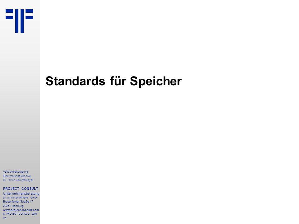 Standards für Speicher