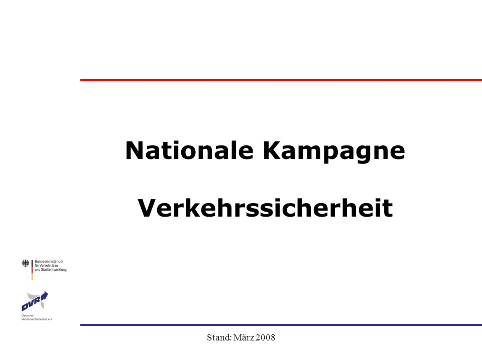 Nationale Kampagne Verkehrssicherheit