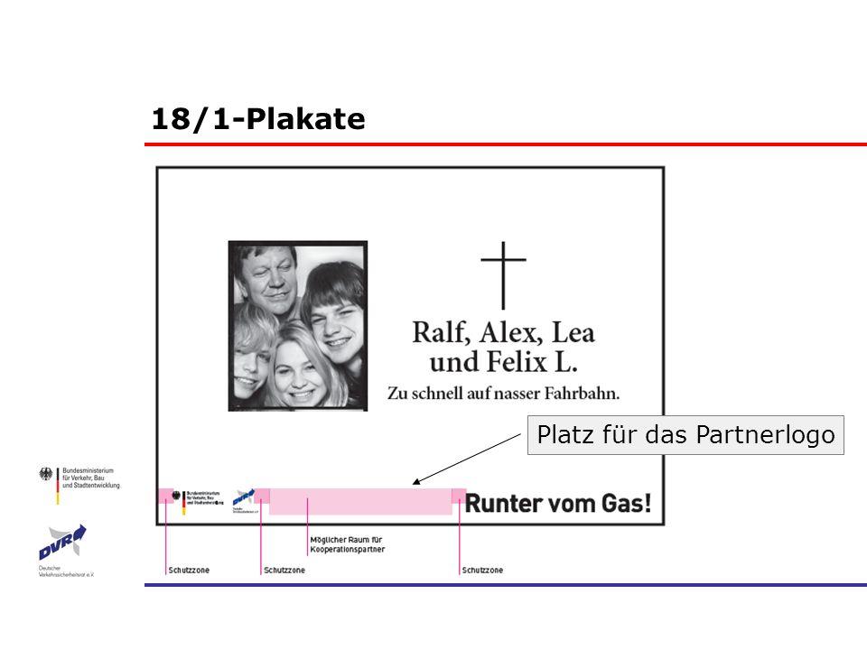 18/1-Plakate Platz für das Partnerlogo