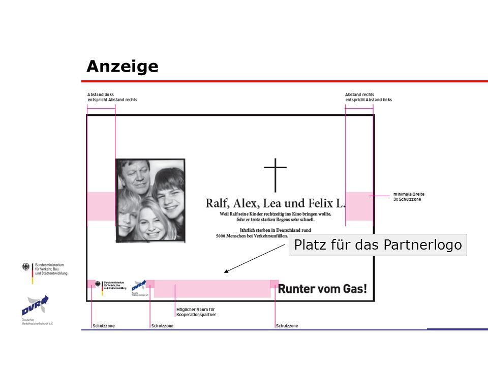 Anzeige Platz für das Partnerlogo