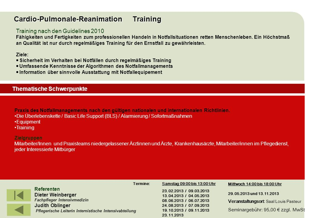 Cardio-Pulmonale-Reanimation Training
