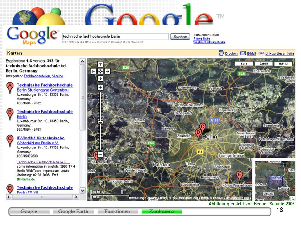 Google Local/Maps (http://maps.google.com)