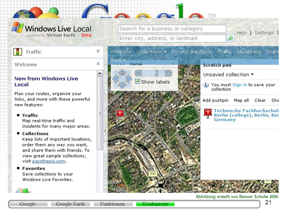 Microsoft Virtual Earth (http://local.live.com)