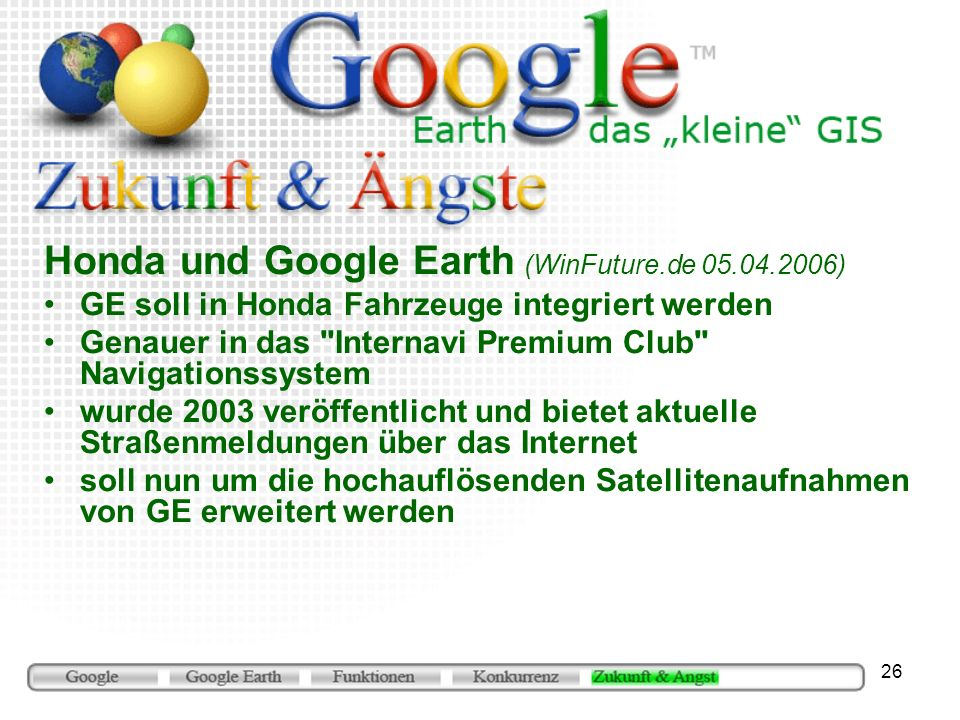 Honda und Google Earth (WinFuture.de 05.04.2006)