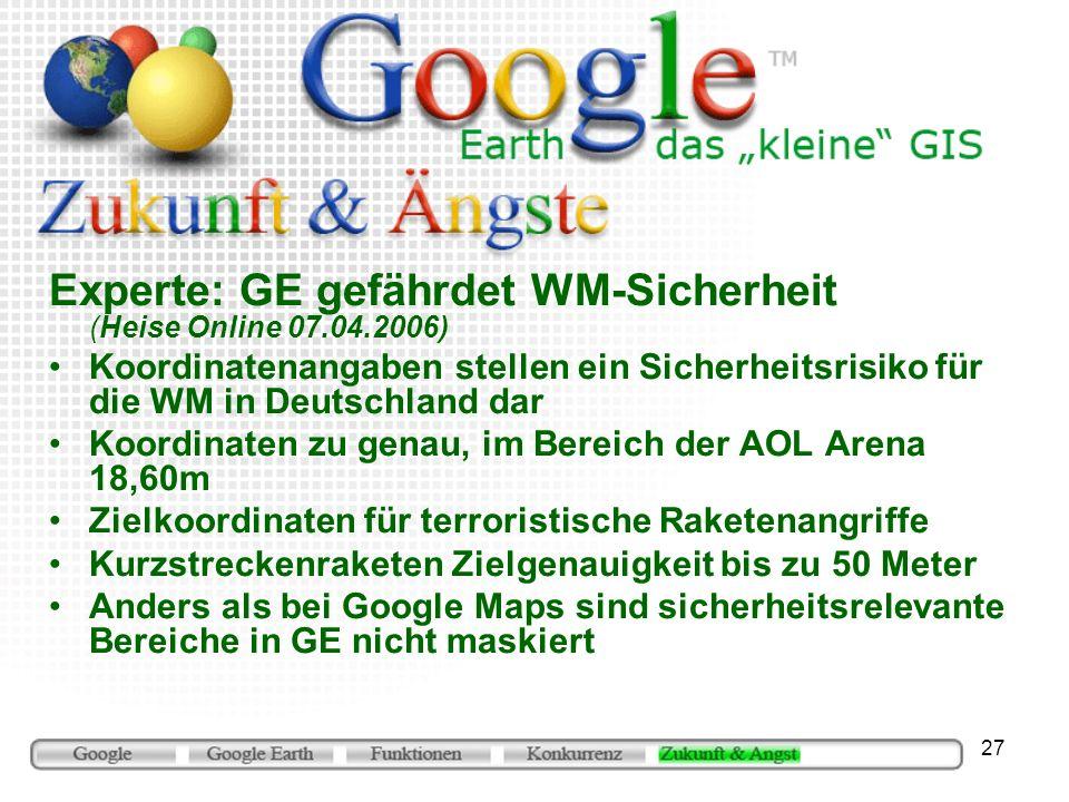 Experte: GE gefährdet WM-Sicherheit (Heise Online 07.04.2006)