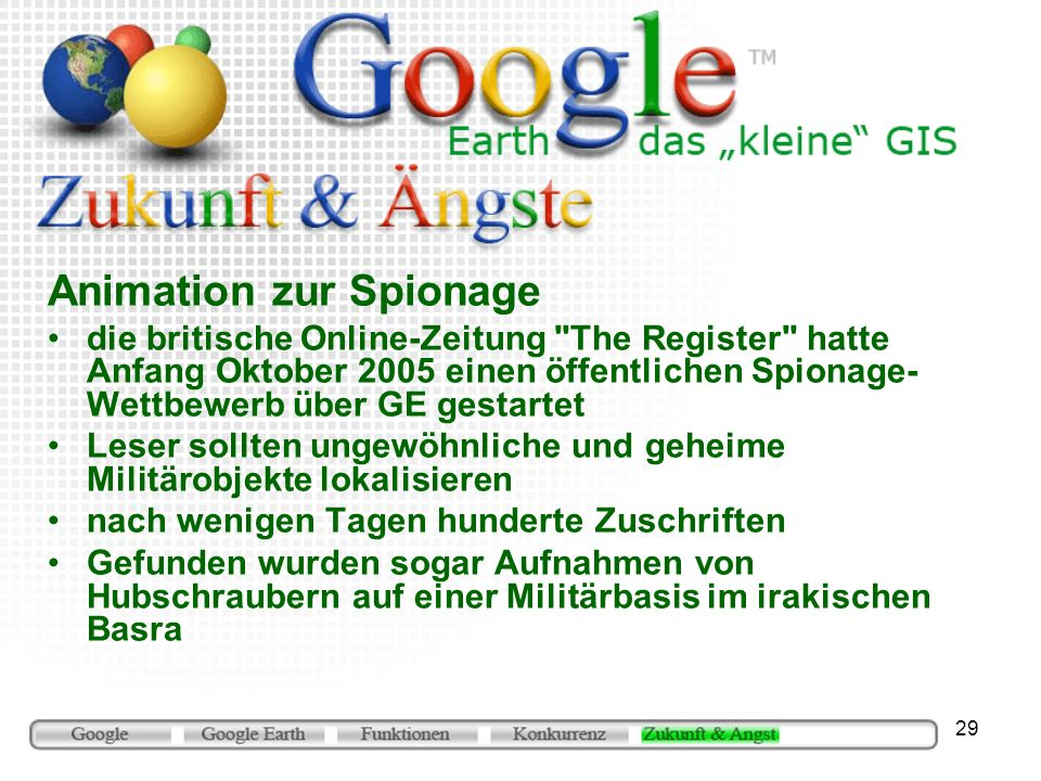 Animation zur Spionage