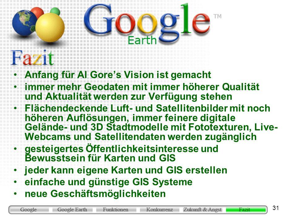 Anfang für Al Gore's Vision ist gemacht