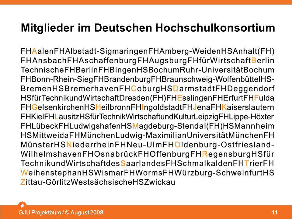 Mitglieder im Deutschen Hochschulkonsortium